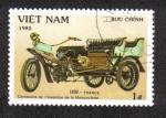 Sellos del Mundo : Asia : Vietnam : Centenario de la invención de la motocicleta, 1898 triciclo Frances