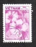 Sellos del Mundo : Asia : Vietnam : Hibiscus rosa-sinensis