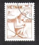 Sellos del Mundo : Asia : Vietnam : Macaque Comedor De Cangrejo (Macaca fascicularis)