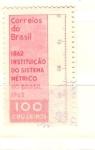 Sellos de America - Brasil -  sistema métrico