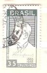 Sellos de America - Brasil -  centenario leon