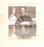 Sellos de America - Brasil -  gran duque juan y la gran duquesa josefina carlota visita