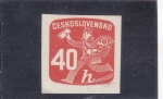 sellos de Europa - Checoslovaquia -  CARTERO