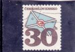 Sellos de Europa - Checoslovaquia -  SOBRE