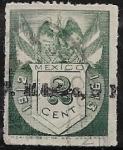 Stamps : America : Mexico :  Timbre fiscal: Escudo Nacional