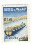sellos de America - Paraguay -  Paraguay en marcha