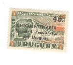 sellos de America - Uruguay -  Cincuentenario de la sociedad  arquitectos de Uruguay
