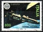 sellos de Europa - Italia -  TRANSBORDADOR  ESPACIAL  HERMES  COLUMBUS