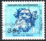 sellos de Europa - Portugal -  NAVEGANTES  PORTUGUESES.  VASCO  DA  GAMA.