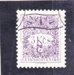 sellos de Europa - Checoslovaquia -  ILUSTRACIÓN FLORES