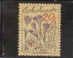 Sellos de Europa - Checoslovaquia -  FLORES-