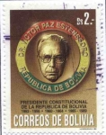 Stamps of the world : Bolivia :  Homenaje a Victor Paz Estenssoro presidente constitucional de la Republica de Bolivia