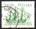 sellos de Europa - Polonia -  EMBARCACIONES.  LÍNEA  DE  ENVÍO.