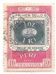 Stamps : America : Peru :  CENTENARIO DEL SELLO