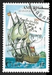 sellos de America - Cuba -  Veleros - Transporte postal