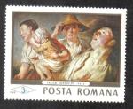 Sellos de Europa - Rumania -  Pinturas de la Galería Nacional de Bucarest, El verano, Jakob Jordaens (1593-1678)