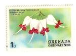 Stamps America - Grenada -  Flores de Grenada Grenadinas- Bleeding heart  Lila de pasion.