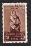 Sellos de Europa - Rumania -  Arte Rumano, Traje folklórico de Câmpulung Muscle