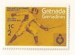Sellos de America - Granada -  Juegos Panameicanos, Ciudad de Mejico, Octubre 1976. Esgrima.