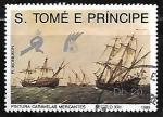 Sellos de Africa - Santo Tomé y Principe -  Veleros - Merchant Ships, 16th Century