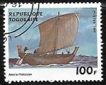 Sellos del Mundo : Africa : Togo : Veleros - Phoenician boat