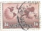 Sellos de Oceania - Australia -  globo terraqueo