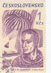 Sellos de Europa - Checoslovaquia -  M. S. Carpenter, desembarcando Mercurio