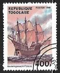 Sellos del Mundo : Africa : Togo : Veleros - 16th century English ship
