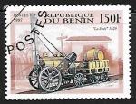 Sellos de Africa - Benin -  Ferrocarriles - La Fusée, 1829