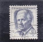 Sellos de Europa - Checoslovaquia -  Ludvík Svoboda (1895-1979), president