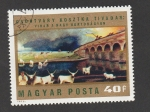 Stamps Hungary -  Pintura Tormenta sobre la llanura