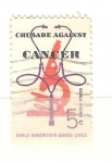 Sellos del Mundo : America : Estados_Unidos : RESERVADO cancer