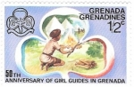 Stamps : America : Grenada :  girl guides 1