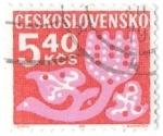 Sellos de Europa - Checoslovaquia -  rosa