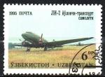 Sellos de Asia - Uzbekistán -  AEROPLANO   JIN-2
