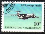 Sellos de Asia - Uzbekistán -  AEROPLANO   IL-76