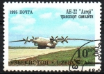 Stamps Uzbekistan -  AEROPLANO   AN-22