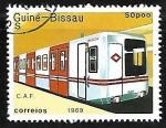 Sellos de Africa - Guinea Bissau -  Ferrocarriles - C.a.f.