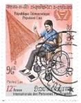 Sellos de Asia - Laos -  discapacitados