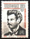 Stamps Uruguay -  ALFONSO  ESPINOLA  (1845-1905).  FÍSICO,  PROFRSOR  Y  FILÁNTROPO.