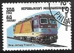 sello : Africa : Madagascar : Ferrocarriles - New Jersey Transit