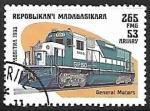 Sellos del Mundo : Africa : Madagascar : Ferrocarriles - General Motors
