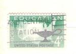 Sellos de America - Estados Unidos -  educaciion