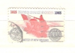 Sellos de America - Estados Unidos -  batalla de nueva orleans