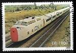 Sellos del Mundo : Africa : Santo_Tomé_y_Principe : Ferrocarriles - CN Turbotrain