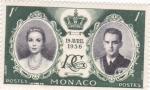 Stamps : Europe : Monaco :  BODA REAL