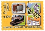 Stamps : Europe : Spain :  50 años de  tv en España