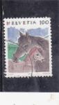 Stamps Switzerland -  ILUSTRACIÓN CABALLOS