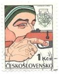 Sellos de Europa - Checoslovaquia -  tiro
