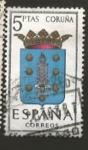 Sellos del Mundo : Europa : España : Edifil ES 1483 Escudos Provinciales CORUÑA